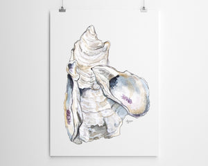Watercolor Oyster Shell Print, Oyster Print, Cluster of Oysters, Sea Shell Art, Title Oyster Cluster 3