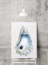 Load image into Gallery viewer, NEW Watercolor Oyster Shell Art Prints by Alexandra Nicole, Shell Art Print, Coastal Art, Watercolor Oyster, Title Great Dunes