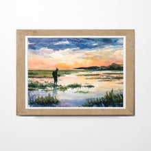 Load image into Gallery viewer, Coastal Marsh Painting, Marsh Print, Low Country Painting, Sunset Painting, Fisherman Gift, Fly fishing