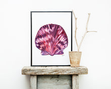 Load image into Gallery viewer, Sea Shell Print, Scallop Shell, Sea Shell Art, Beach House Decor, Coastal Decor