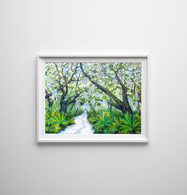 Load image into Gallery viewer, Cumberland Island Trail, Oak Tree Print, Tree Painting, Live Oak, Tree Print