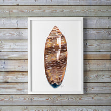 Load image into Gallery viewer, Lettered Olive Print, Olive Print, Shell Print, Sea Shell Art, Beach House Decor, Coastal Decor