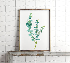 Eucalyptus Print, Botanical Print, Plant Wall Art, Woodland Art, Botanical Illustration, True Blue Eucalyptus