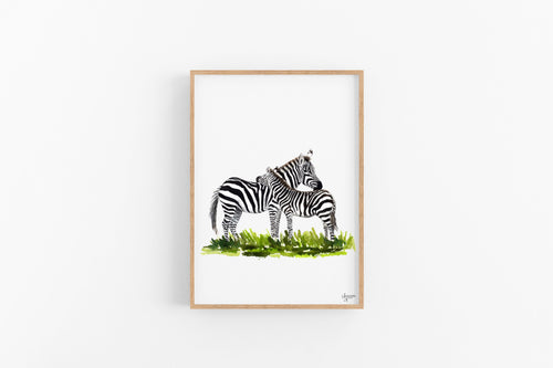 Baby Zebra Print, Zebra Painting, Zebra Wall Art, African Animal Art, Safari Nursery Decor, Animal Wall Art