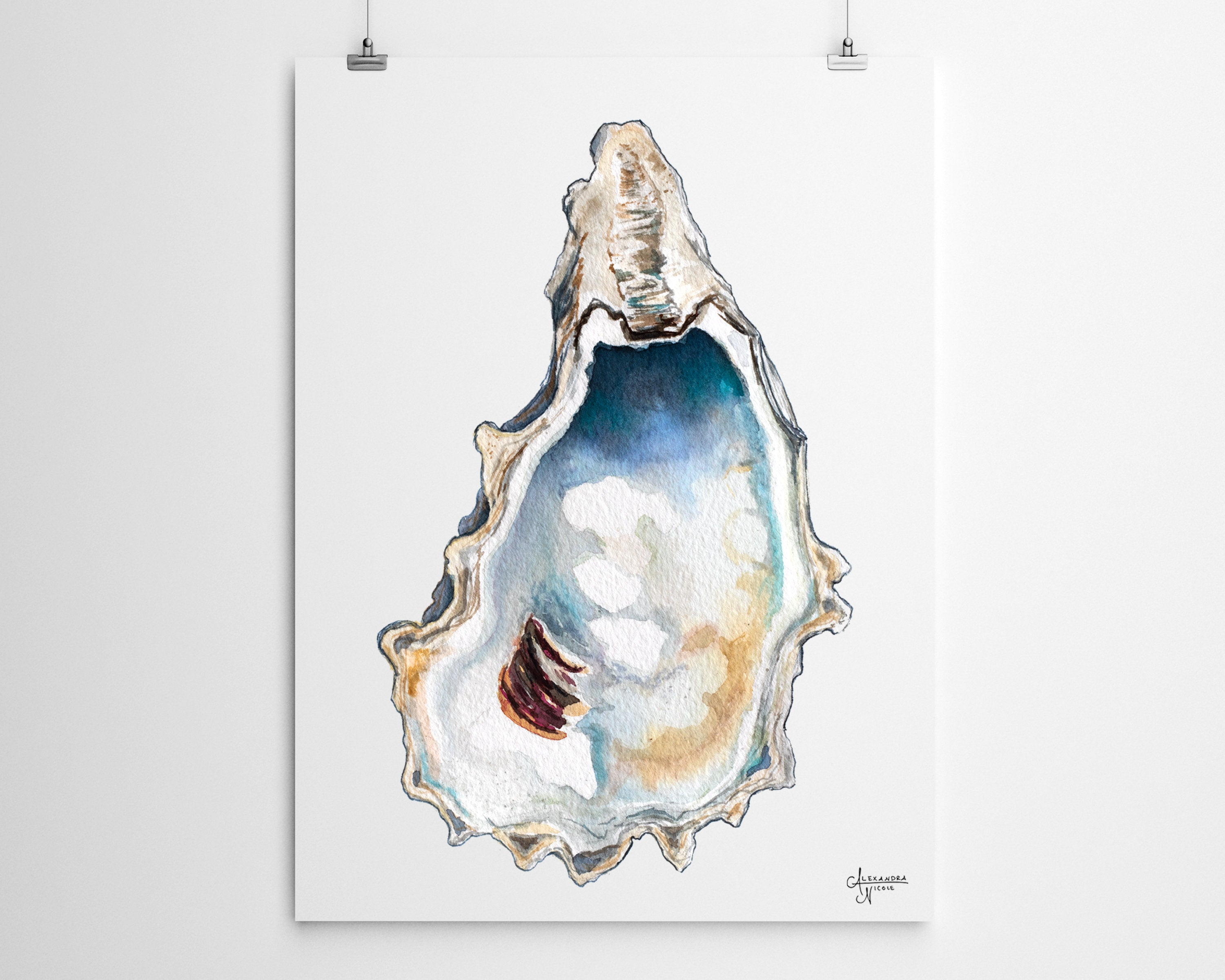 Breach Inlet 3 Oyster Shell Print New to the Shop