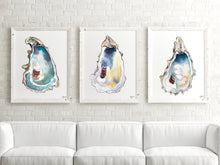 Load image into Gallery viewer, Oyster Shell Art Print Set, Alexandra Nicole Releases New 2020 Oyster Print Set, Discounted Prints, Gallery Wall Art, Beach House Decor