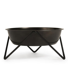 Load image into Gallery viewer, Bendo Woof Pet Dog Bowl Black on Black Sydney Australia