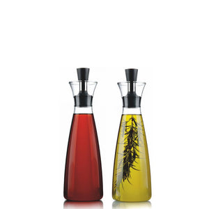 Eva Solo Oil & Vinegar Carafe Bottles with Olive Oil and Vinegar and Herbs