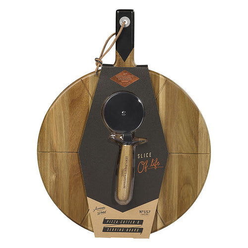 GENTLEMANS HARDWARE Pizza Cutter & Board Main1