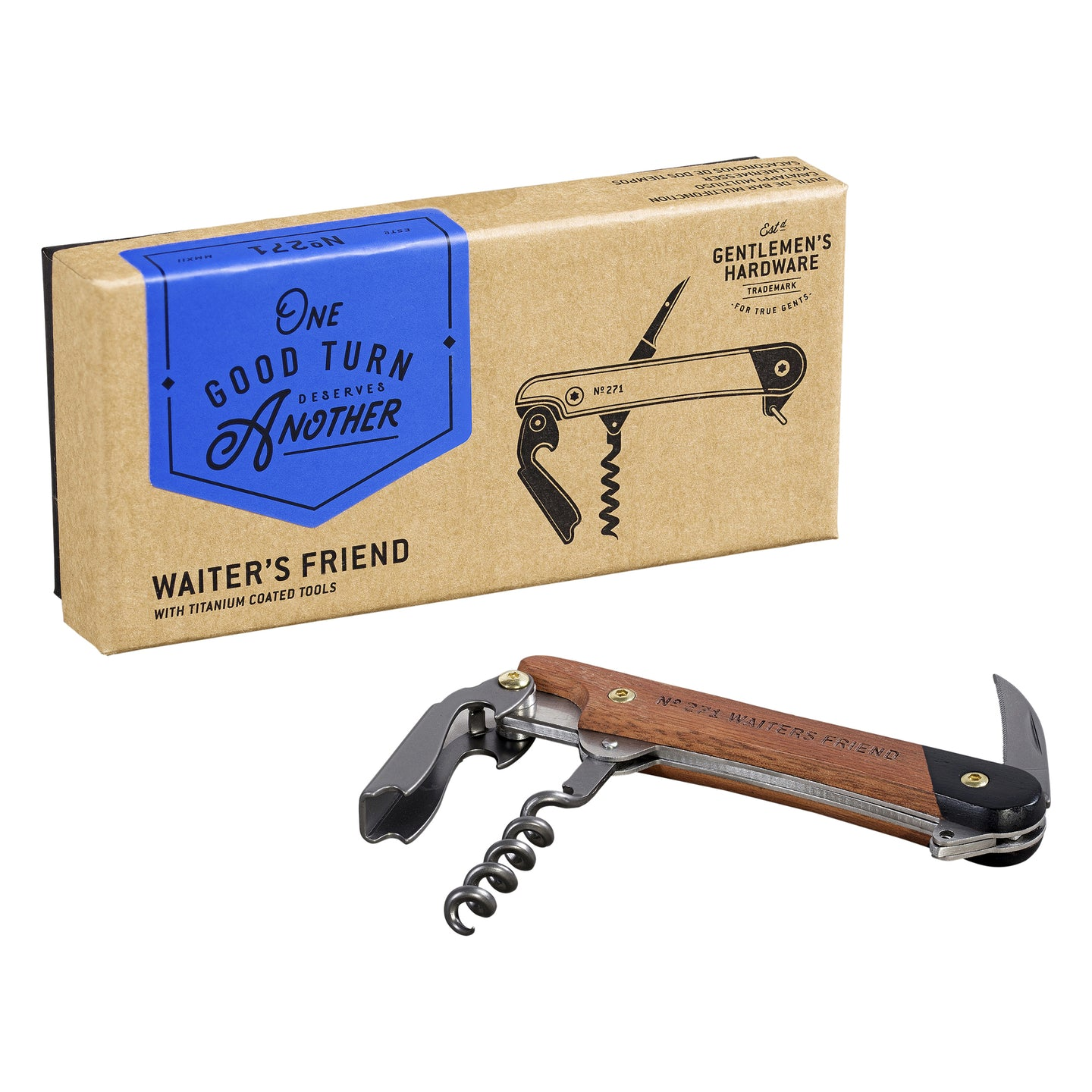 GENTLEMANS HARDWARE Waiters Friend Corkscrew Main01