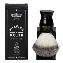 Load image into Gallery viewer, GENTLEMANS HARDWARE SHAVING BRUSH AND HOLDER MAIN 1
