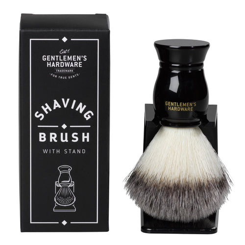 GENTLEMANS HARDWARE SHAVING BRUSH AND HOLDER MAIN 1