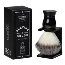 Load image into Gallery viewer, GENTLEMANS HARDWARE SHAVING BRUSH AND HOLDER MAIN 2