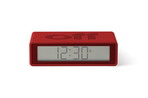 LEXON FLIP+ ALARM CLOCK RED MAIN01