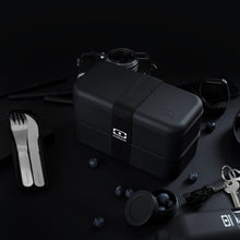 Load image into Gallery viewer, Monbento MB Original Bendo Box Lunch Box in Black Lifestyle