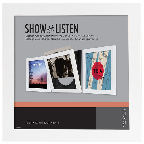 PINNACLE Show and Listen Vinyl Record Frame White Main 1