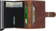 Load image into Gallery viewer, Secrid Miniwallet Vintage Brown Open