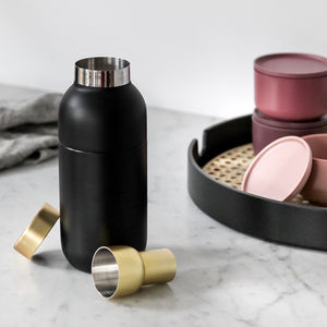 Stelton Collar Cocktail Shaker & Measurer Lifestyle