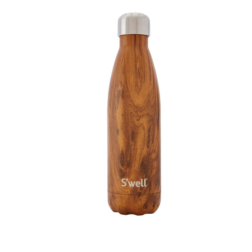S'Well Wood Collection Insulated Water Bottle - Teak Wood 500ml