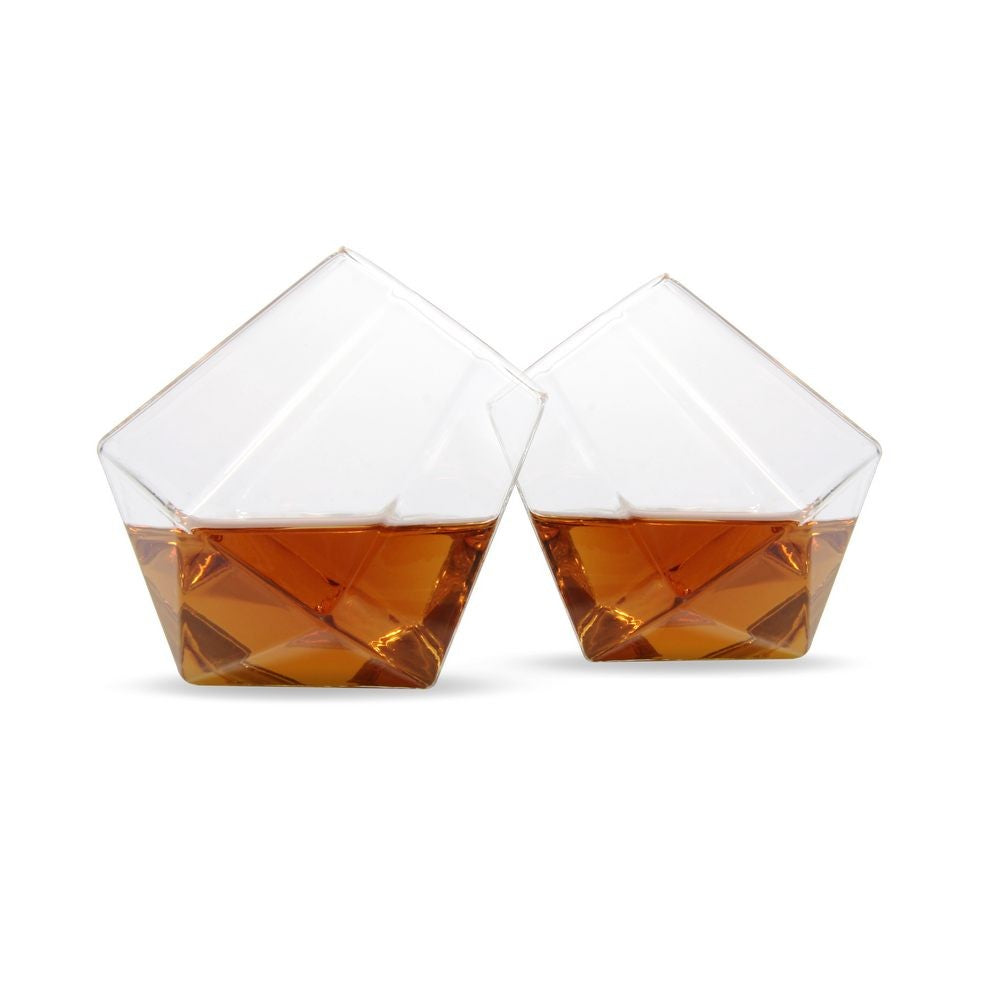 THUMBS UP Diamond Whisky Glasses Set of 2 Main
