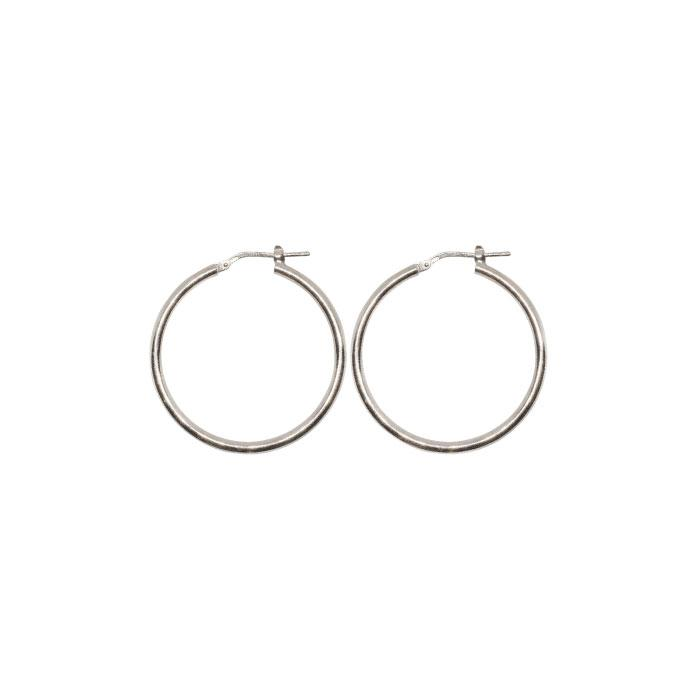 Torini Gypsy Hoop Earrings 30mm Silver Main