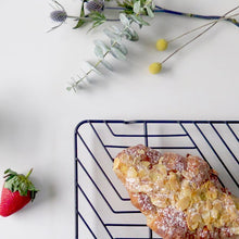 Load image into Gallery viewer, BENDO Cool Cake Rack  in Black with Almond Croissant