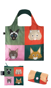 LOQI Shopping Bag Cats & Dogs Collection Cats - 3 pieces Online Store Sydney Australia