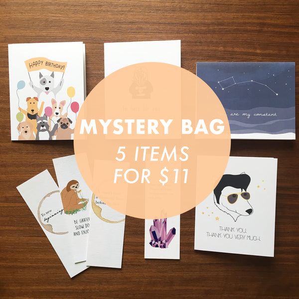 Mystery bag - Sale cards and bookmarks!