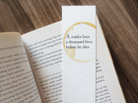 A thousand lives - Coffee stamped bookmark