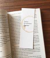 The adventure begins - Coffee Stamped bookmark