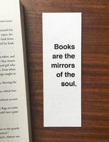 Mirrors of the soul - Quote bookmark
