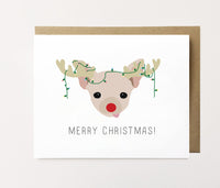 Rudolph Chihuahua - Dog Christmas Card