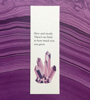 Growth has no limit - Crystal art bookmark