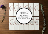 Custom quote bookmark