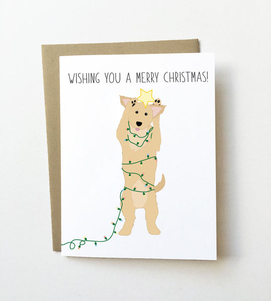 Christmas puppy - Dog Christmas Card