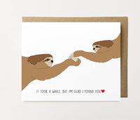 Sloth Love - Cute Anniversary Card
