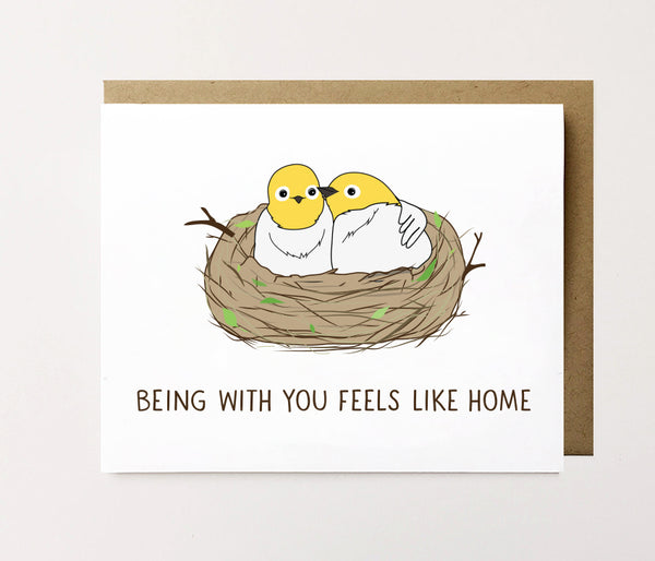 Feels like home - Sweet love card - NEW