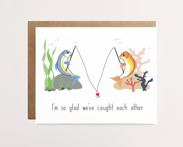 Caught each other - Cute love card - NEW