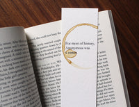 Anonymous - Feminist coffee stamped bookmark