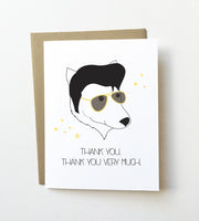 Elvis Pupsley - Funny thank you card