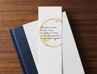 Happiness can be found - Coffee stamped bookmark