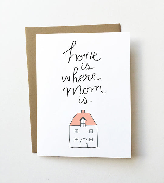 Home is where Mom is - Cute Mother's day card
