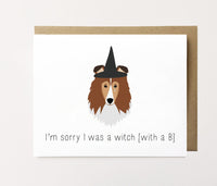 Witch with a B - Apology Card