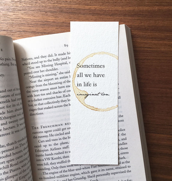Imagination - Coffee Stamped bookmark