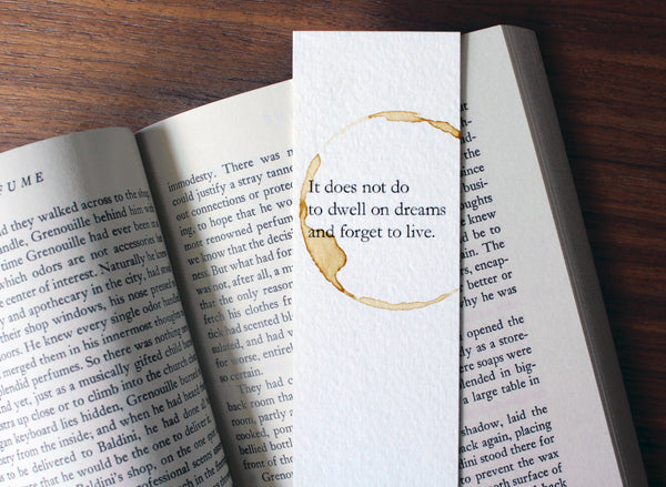 Do not forget to live - Coffee stamped bookmark