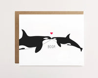 Baby orca boop - Card for parent