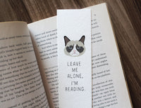 Leave me alone I'm reading - Grumpy cat bookmark