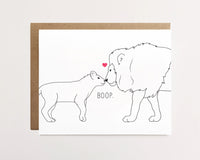 Lion and Cub Boop - Father's Day Card