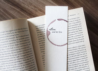 Live and let live - Wine stamped bookmark