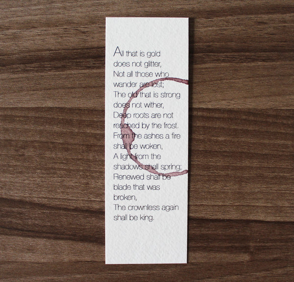 Not all those who wander are lost - Wine stamped bookmark